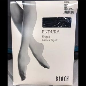 Bloch Endura Black Footed Adult Tights NIP !